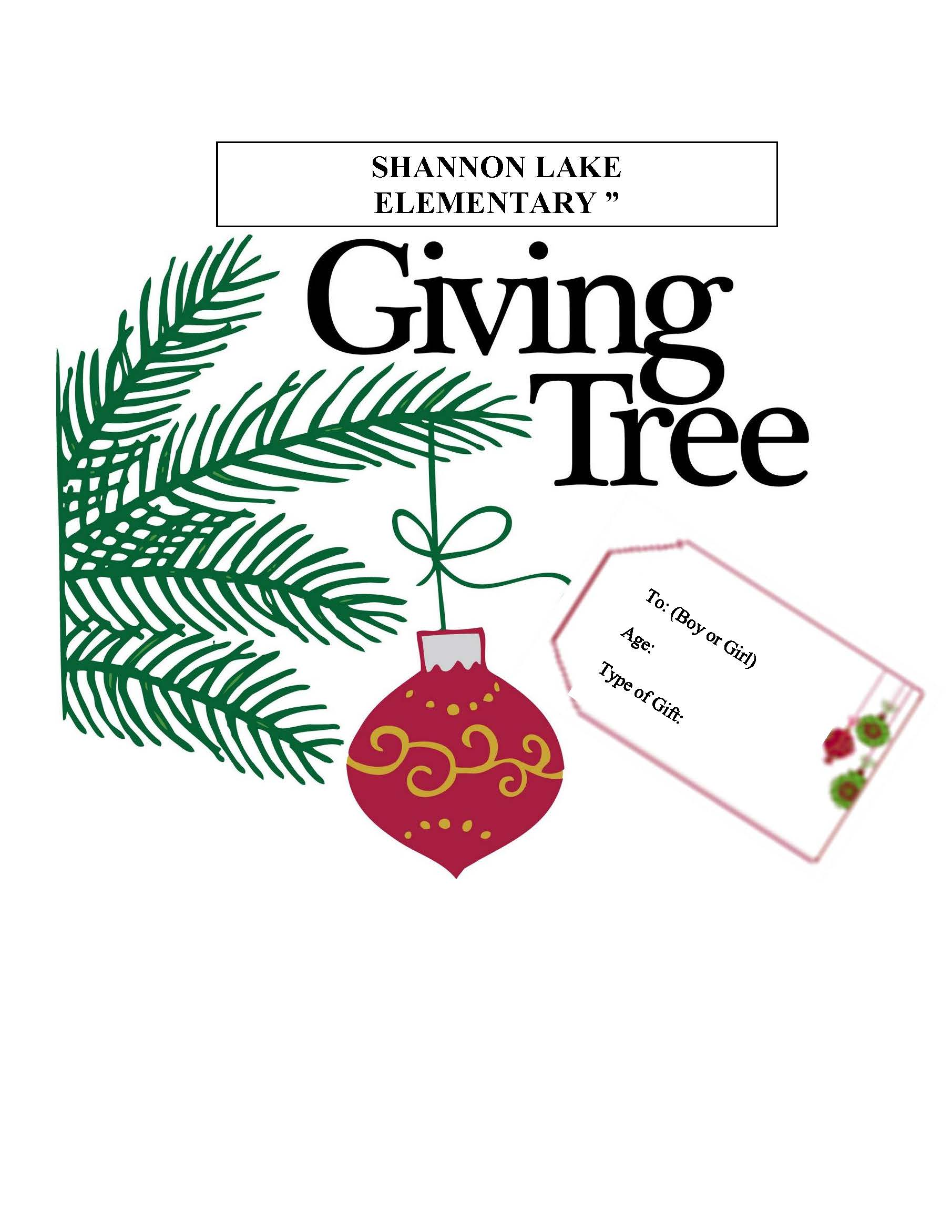 SLE's Gift Giving Tree...