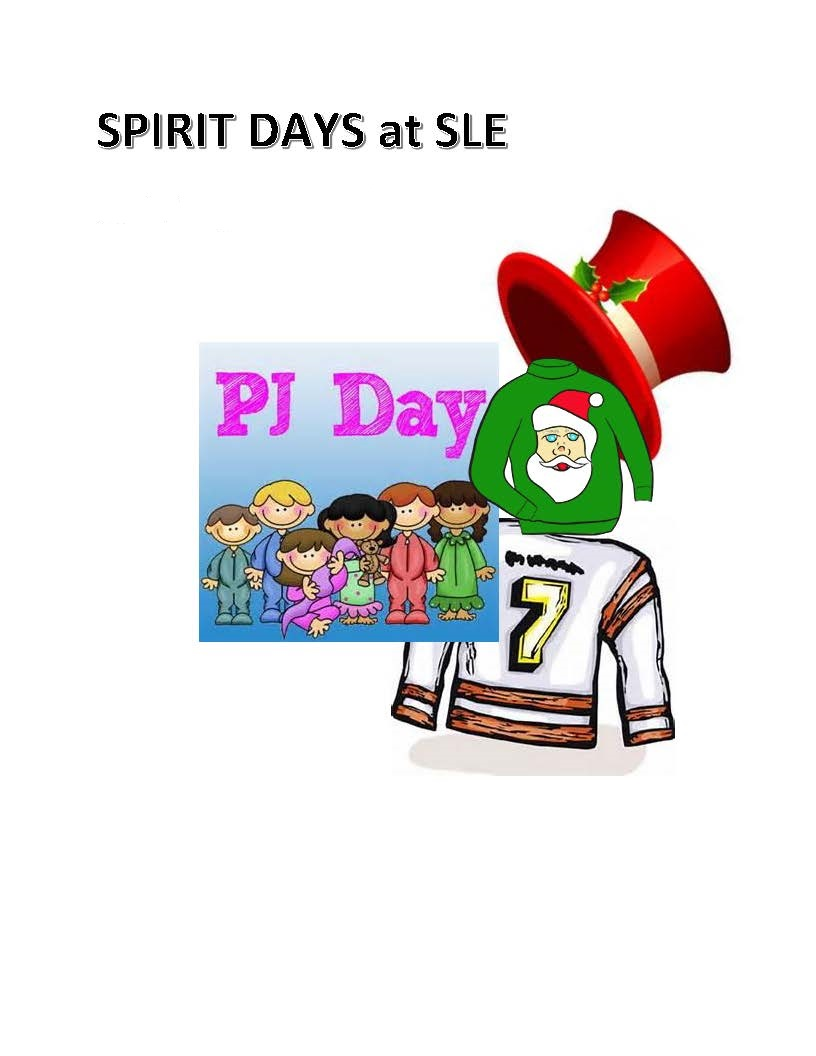 Upcoming Spirit Days at SLE...
